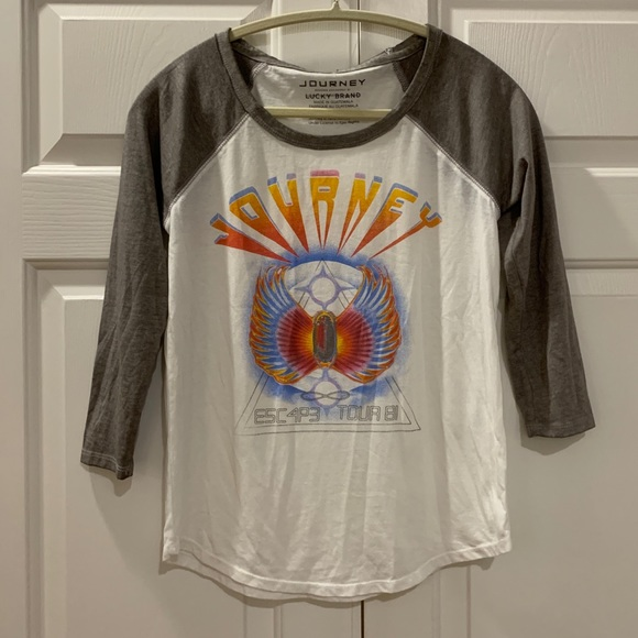 Lucky Brand Tops - NWOT Lucky Brand 'Journey' Band Tee Size XS